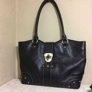 925b07e79a ... Etienne Aigner Large Black Leather Bag